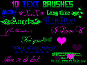 Text Brushes.