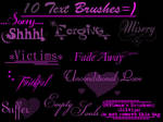 TEXT BRUSHES..