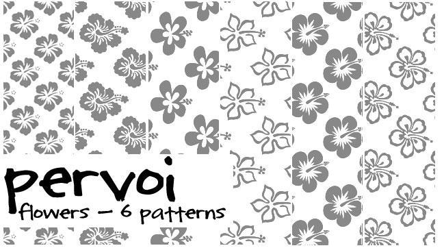 pattern set flowers by pervoi