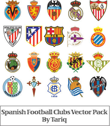 Spanish football clubs logos by tariqelamine on deviantart - Logo club foot espagnol ...