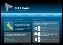 APEX studio website by apexflash
