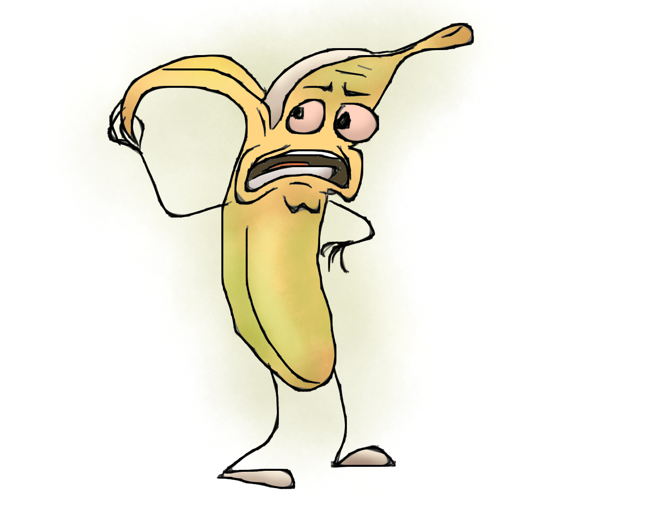 Horrified Bananaguy by SusuSketches