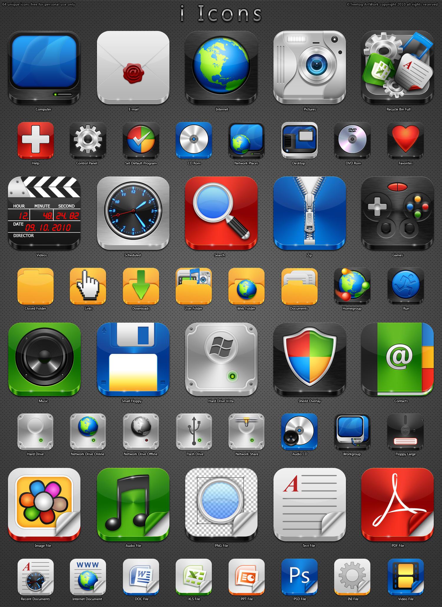 i Icons by treetog