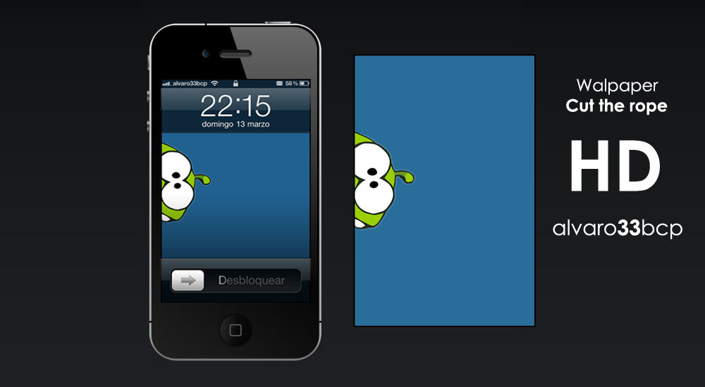 Cut the rope Wallpaper by alvaro33bcp