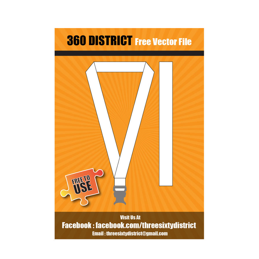 360 District Free Vector Lanyard By 360district On