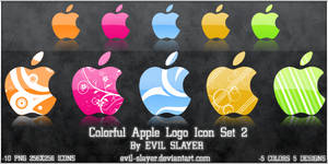Colorful Apple Logo Icon Set 2