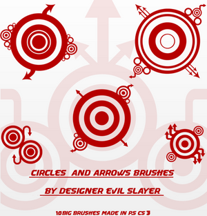 CIRCLES AND ARROWS BRUSHES