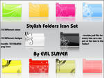 Stylish Folders Icon Set