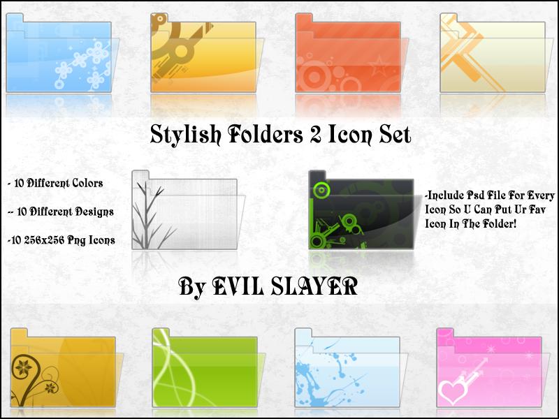 Stylish Folders 2 Icon Set by Evil-Slayer