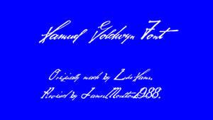 Samuel Goldwyn Font