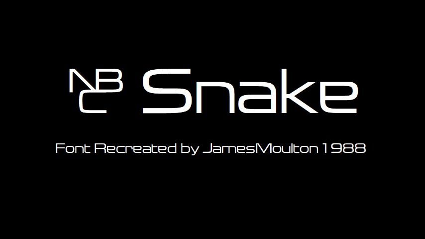 Nbc Snake Font By Jamesmoulton1988 On Deviantart