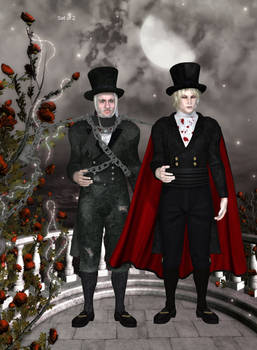 Count Nosferatu and Jacob Marley