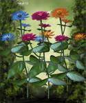 Fairy Zinnia Garden