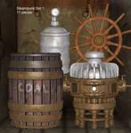 Steampunk Props Set 1