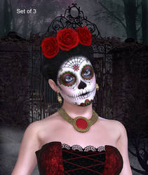Gothic Faces by oldhippieart
