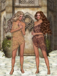 Grecian Lace by oldhippieart