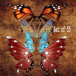 Lots of Wings by oldhippieart