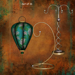 Hangers and Paper Lanterns by oldhippieart