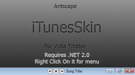 ItunesSkin - Vista top bit by Antscape