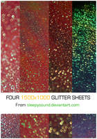 Four 1500x1000 Glitter Sheets