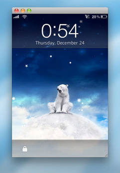 Lockscreen Snow 3.0