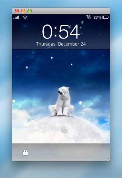 Lockscreen Snow 3.0 by Plizzo