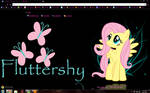 Fluttershy Black Chrome Theme