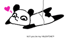 CHIBI PANDA ISH BACK: Will you be my valentine ^^