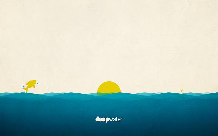Deep water wallpaper by Akasunanosasori01