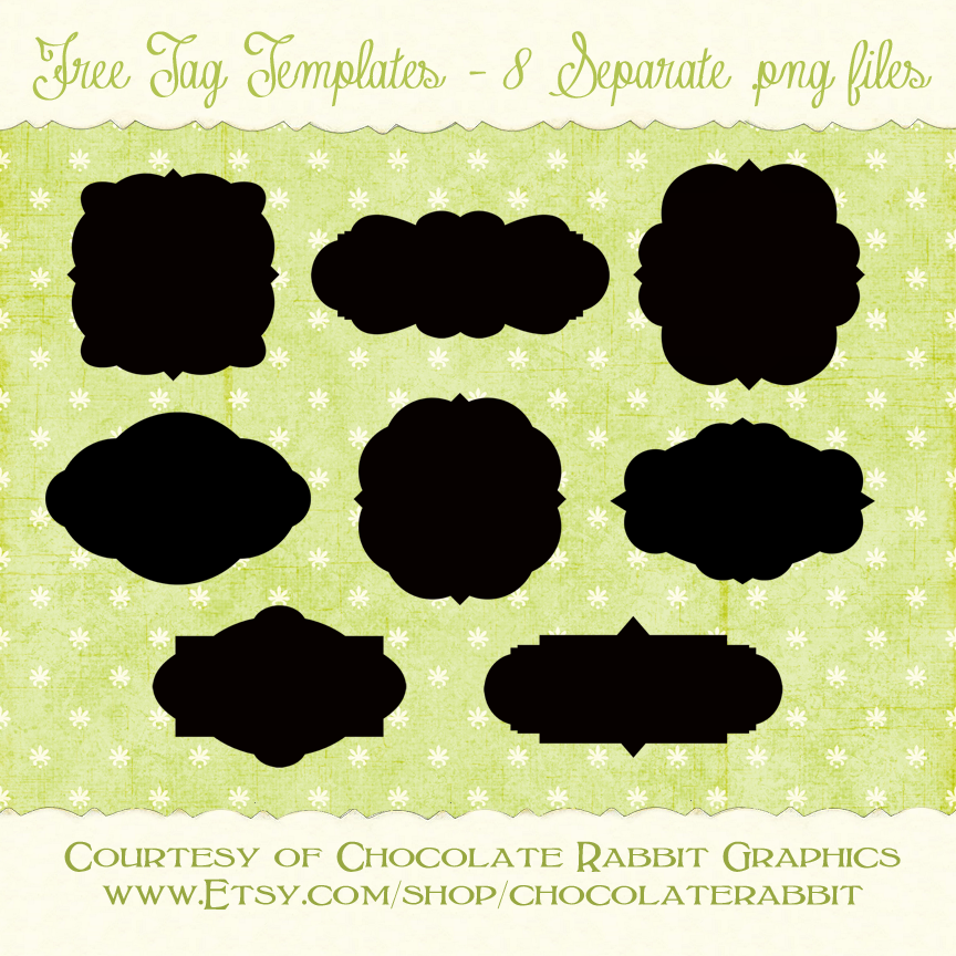 Free Tag Shape Templates By Chocolaterabbit On DeviantArt - Locker tag templates