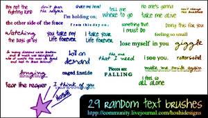 Random Text Brushes 016