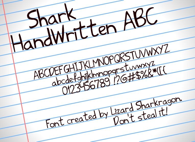 Font - Shark HandWritten ABC