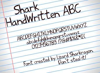 Font - Shark HandWritten ABC by TSM-Draws