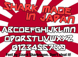 Font - Shark Made In Japan