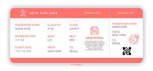 TEMPLATE AIRPLANE TICKET N001 by rareddeer