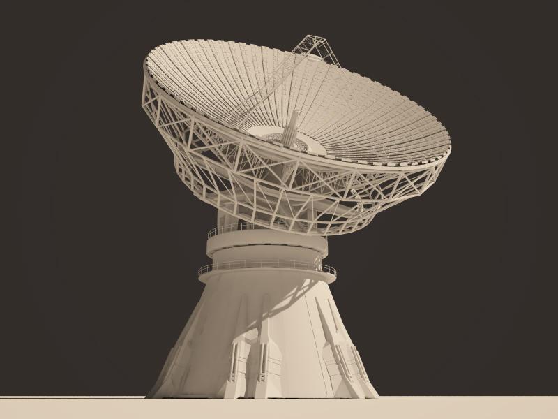 modern satellite dish c4d model by jediz on deviantart