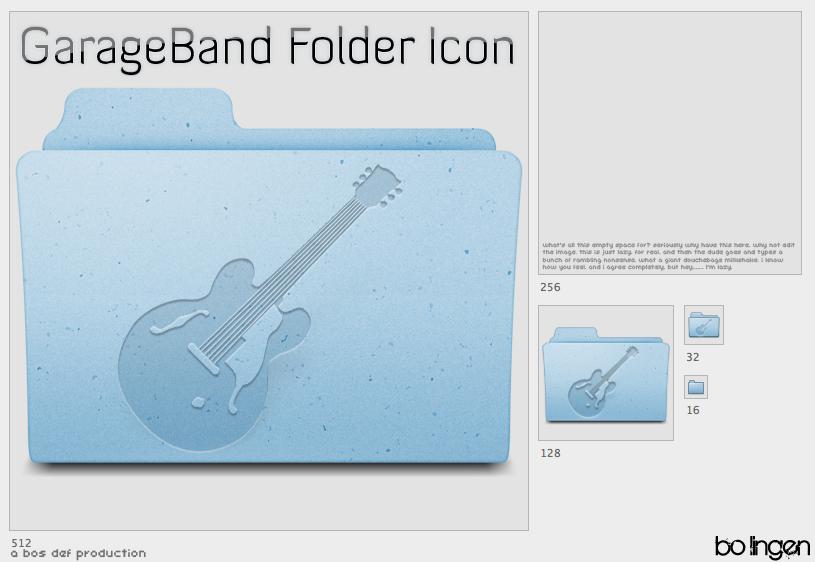 GarageBand Folder Icon by TraVitas