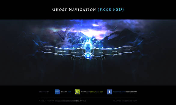 Ghost Navigation - Free PSD