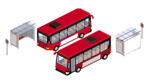 Pixel bus + bus station