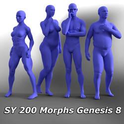 SY 200 Free Morphs Genesis 8 by SickleYield