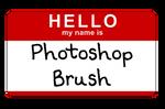 Hello sticker brush