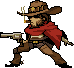 Idle animation of Mccree's pixel spray by Daydreamer194