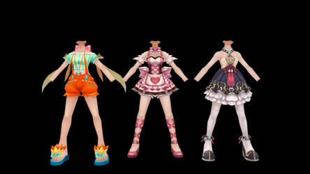 Flyff Female Outfit Pack by GPMMD