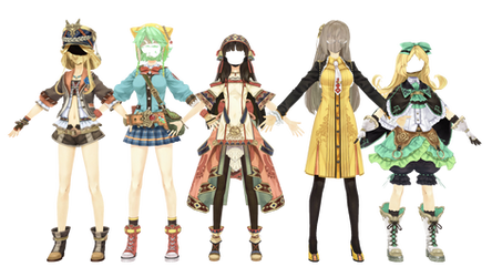 (Atelier Shallie) Female Outfit Pack