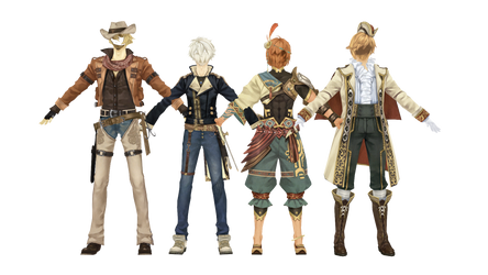 (Atelier Shallie) Male Outfit Pack