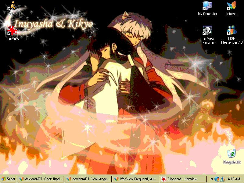 InuYasha DeskTop 12 by Wolf-Angel