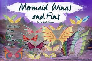 Mermaid Wings and Fins by Enchantedflower