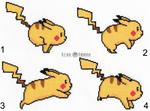 Animated Pokemon Pikachu Cross Stitch
