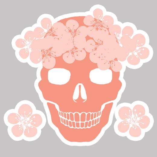 Skulls and Sakura Brush Pack by matildarose