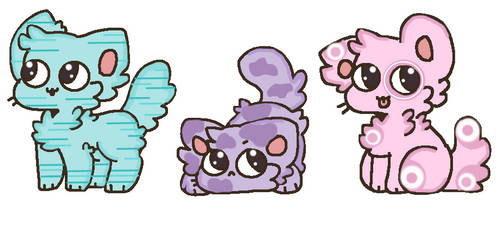 Cute Pastel Cat Adopts (Updated) {Closed} by UnicornDrawsXX